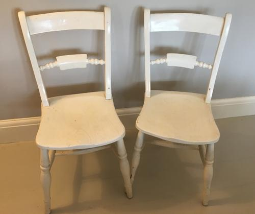 Pair of Painted Rope Back Kitchen Chairs (1 of 3)