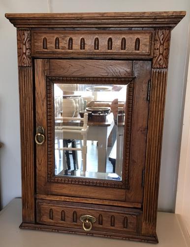 Oak Bathroom Cupboard C.1900 (1 of 1)