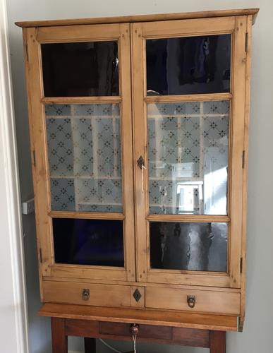 French Wall Hanging Cupboard / Cabinet (1 of 1)