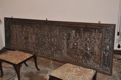 Large 16th Century Carved Oak Panel (1 of 1)