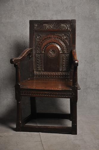 17th Century Oak Wainscot Chair (1 of 1)