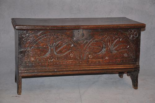 17th Century Oak Coffer of Small Proportions (1 of 1)