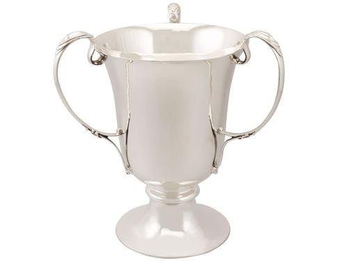 Sterling Silver Presentation Cup / Bottle Holder - Art Nouveau - Antique Edwardian 1905 (1 of 9)