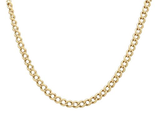 15ct Yellow Gold Necklace / Watch Chain - Antique c.1900 (1 of 9)