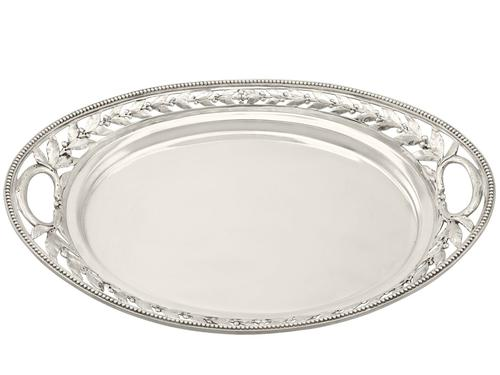 Sterling Silver Galleried Drinks Tray - Antique Victorian 1879 (1 of 9)