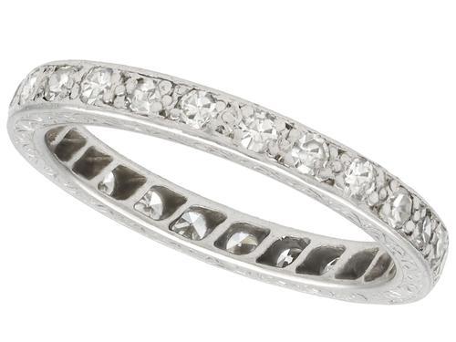 0.50ct Diamond & Palladium Full Eternity Ring c.1930 (1 of 9)