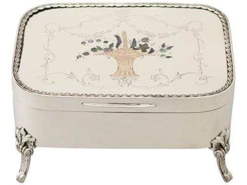 Edwardian Sterling Silver Jewellery Box (1 of 1)