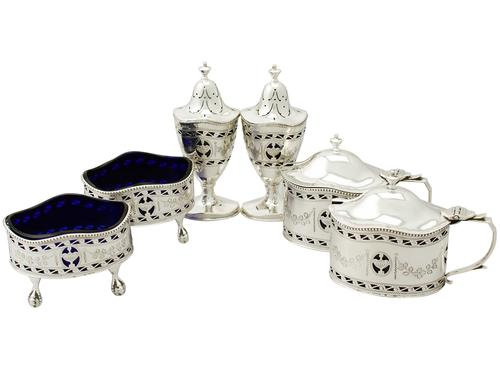 Sterling Silver Condiment Set - Adam Style (1 of 1)