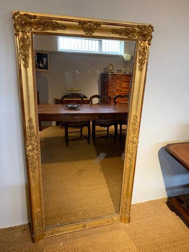 Tall Narrow Gilt Mirror c.1850 (1 of 7)