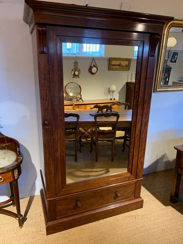 Victorian Mahogany Linen Press (1 of 7)
