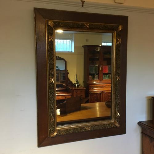 Antique Oak & Gilt Mirror c.1910 (1 of 1)