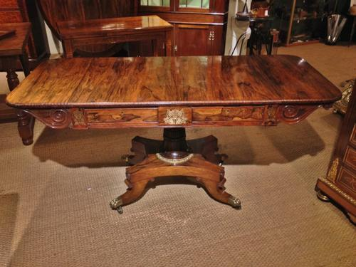 Brass Inlaid Sofa Table c.1830 (1 of 1)