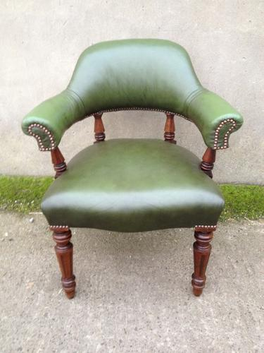 Antique Leather Desk Chair c.1880 (1 of 1)