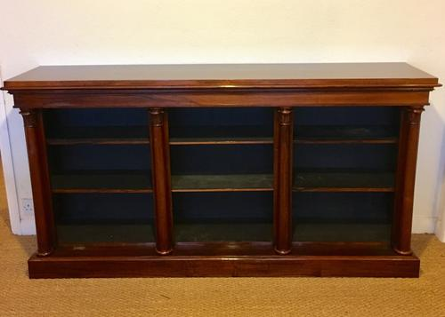 Long low Rosewood Bookcase c.1850 (1 of 1)