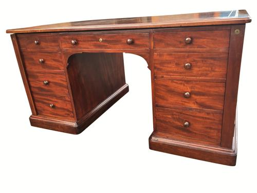 Mahogany Partners Desk by Gillows C.1830 (1 of 1)