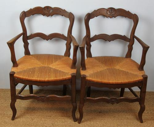 Pair of Country Carver Chairs c.1920 (1 of 1)