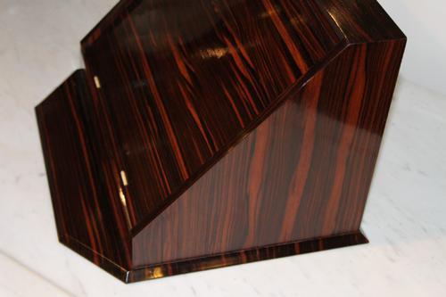 Art Deco Macassar Ebony Desk Tidy / Letter Rack (1 of 1)