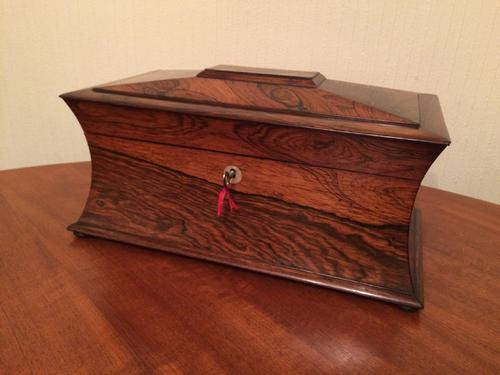 Victorian Rosewood Tea Caddy (1 of 1)