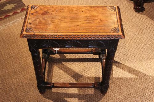 Victorian Oak Joint Stool (1 of 1)