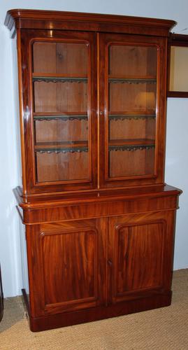 Victorian Mahogany 2 Part Bookcase (1 of 1)