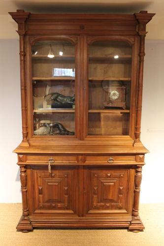 Large Walnut 2 Part Bookcase c.1880 (1 of 1)