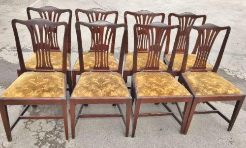 Set of 8 Antique Dining Chairs c.1910 (1 of 1)