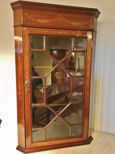 Mahogany Corner Cabinet C.1900 (1 of 1)