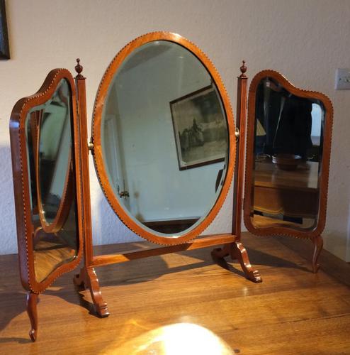 Mahogany Triptych Mirror (1 of 4)