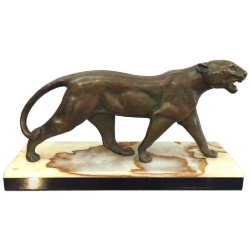 Art Deco Bronze Panther (1 of 1)