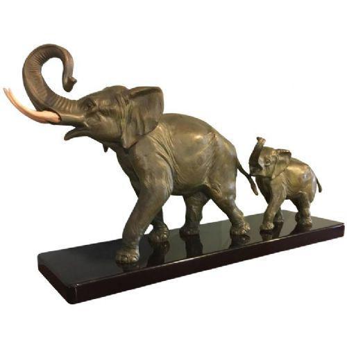 Art Deco Spelter Group of Elephants (1 of 1)