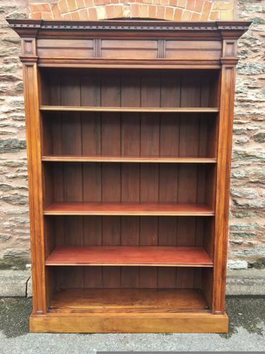 Open Bookcase Walnut c.1910 (1 of 1)