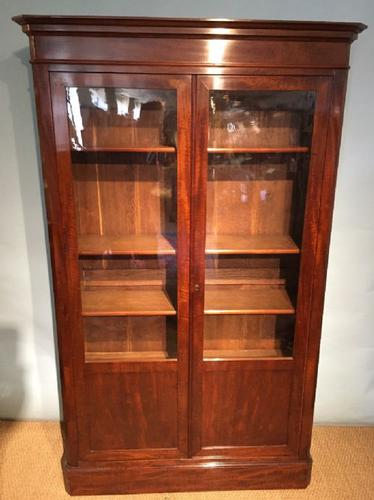 Mahogany 2 Door Bookcase c.1870 (1 of 1)