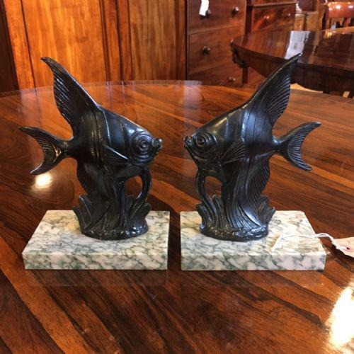 Art Deco Bookends of Angel Fish (1 of 3)