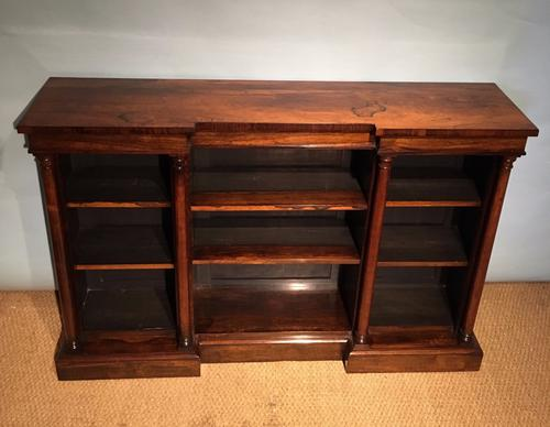 Rosewood Breakfront Bookcase c.1820 (1 of 1)