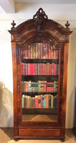 Tall Single Door Bookcase c.1870 (1 of 1)