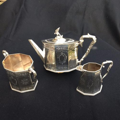Silver Plated Tea Service, English C.1890 (1 of 1)