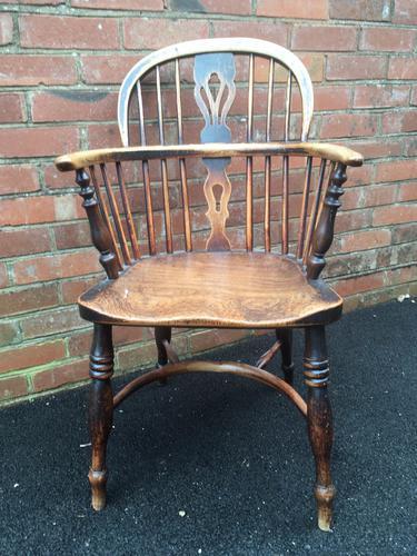 Elm Windsor Chair, Rockley Maker c.1840 (1 of 1)
