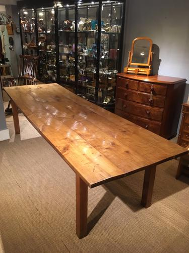 Long & Wide Cherrywood Farmhouse Table (1 of 1)