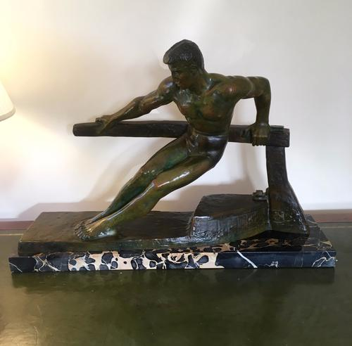 Art Deco Bronze of The Boatman by Georges Gori (1 of 1)