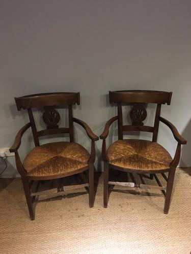 Pair of Country Carver Chairs (1 of 1)