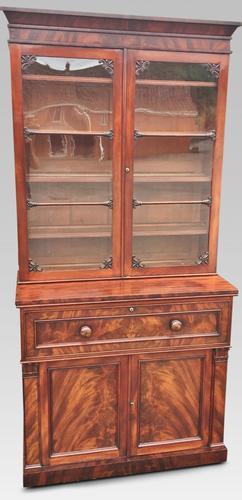 Mahogany Secretaire Bookcase C.1830 (1 of 1)