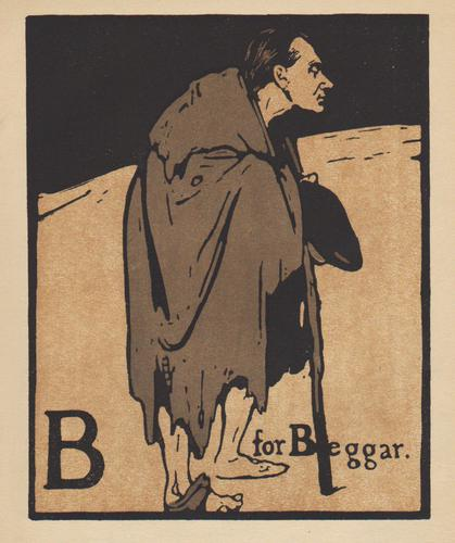 An Alphabet  - Lithographs by William Nicholson 1898 (1 of 6)