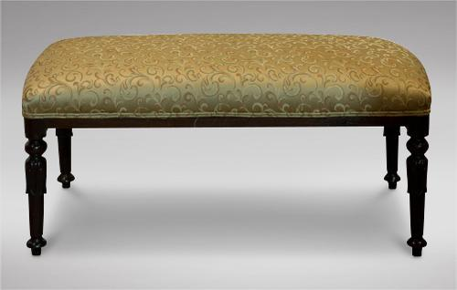 Mahogany Long Bench / Stool with Carved Legs c.1895 (1 of 4)