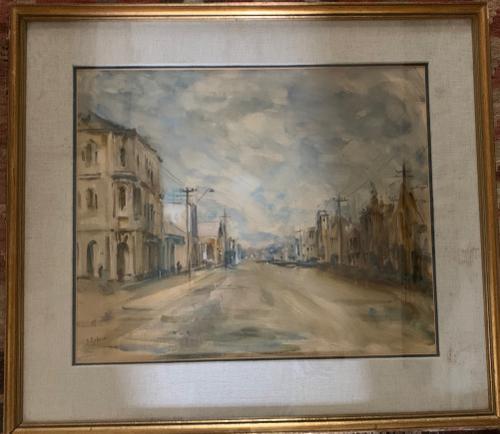 Nornie Gude - Watercolour - Australian Town (1 of 3)