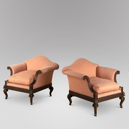 Pair of Edwardian Occasional Chairs (1 of 3)