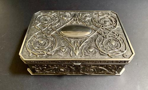 Art Nouveau Style Silver Jewellery Box (1 of 6)