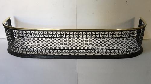 Brass Topped Metal Brass Fender / Firescreen c.1910 (1 of 1)