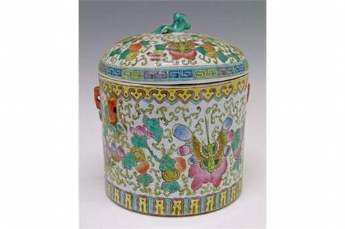 Chinese Famille Rose Water Jar (1 of 1)