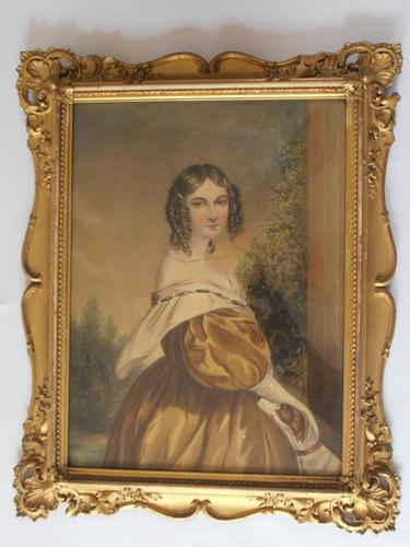 19thc English School Watercolours of Young ladies (1 of 1)