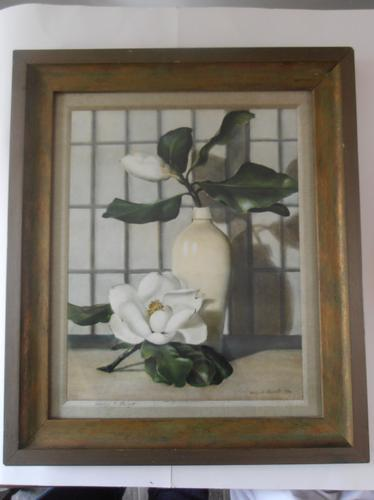 After Ethelyn C Stewart, 1946 Signed Magnolias Print in Colour (1 of 1)